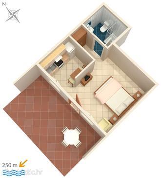 Studio flat AS-5478-a - Apartments Crikvenica (Crikvenica) - 5478
