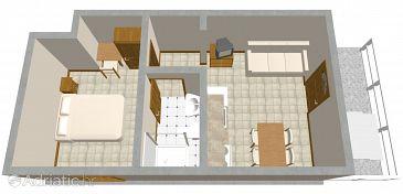 Apartment A-548-b - Apartments Zavalatica (Korčula) - 548