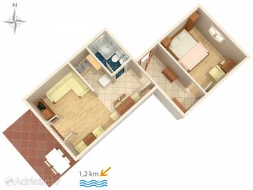 Apartment A-5494-b - Apartments Crikvenica (Crikvenica) - 5494