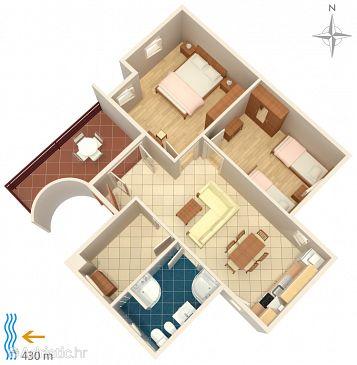 Apartment A-5504-a - Apartments Klenovica (Novi Vinodolski) - 5504