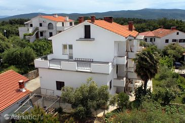 Property Krk (Krk) - Accommodation 5509 - Apartments and Rooms with pebble beach.