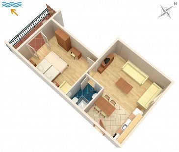 Apartament A-5514-b - Apartamenty Novi Vinodolski (Novi Vinodolski) - 5514