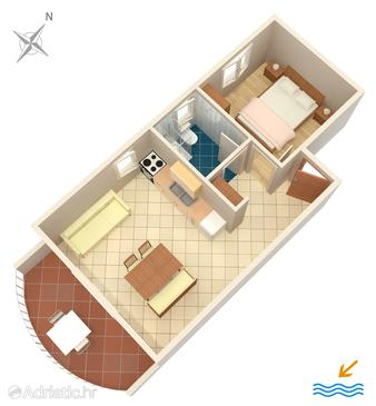 Apartment A-553-a - Apartments Zavala (Hvar) - 553
