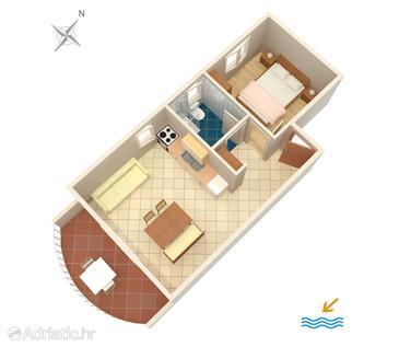 Apartment A-553-d - Apartments Zavala (Hvar) - 553