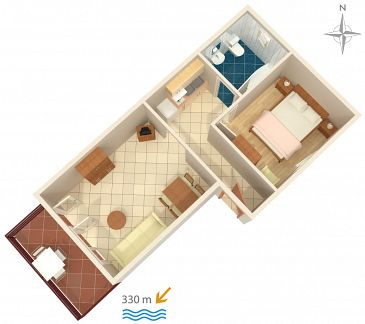 Apartament A-5533-a - Apartamenty Jadranovo (Crikvenica) - 5533