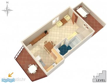 Apartment A-5535-a - Apartments Duga Luka (Prtlog) (Labin) - 5535