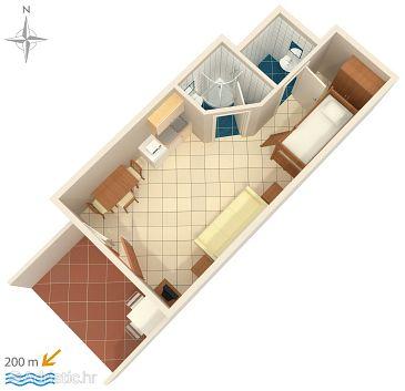 Studio flat AS-5545-c - Apartments and Rooms Novi Vinodolski (Novi Vinodolski) - 5545