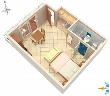 Studio flat AS-5550-c - Apartments Selce (Crikvenica) - 5550
