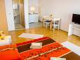 Dramalj, Bedroom u smještaju tipa studio-apartment, dostupna klima, dopusteni kucni ljubimci i WIFI.