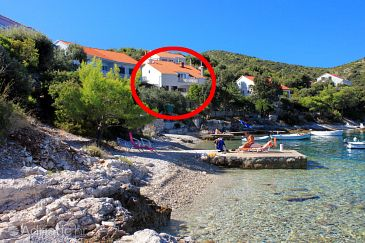 Property Tri Žala (Korčula) - Accommodation 556 - Apartments near sea with pebble beach.