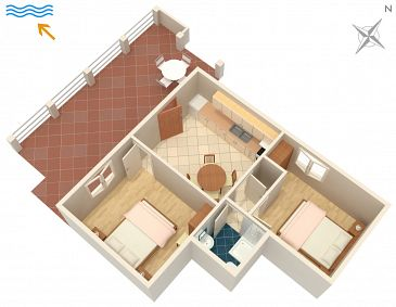 Apartment A-558-a - Apartments Tri Žala (Korčula) - 558