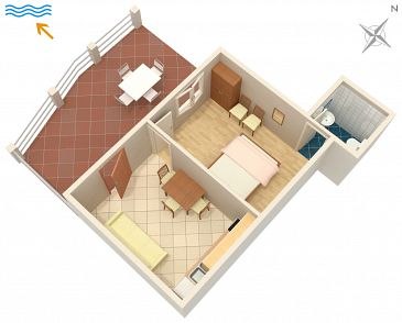 Apartment A-558-b - Apartments Tri Žala (Korčula) - 558
