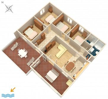 Apartment A-558-c - Apartments Tri Žala (Korčula) - 558