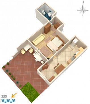 Apartament A-5582-c - Apartamenty Novi Vinodolski (Novi Vinodolski) - 5582