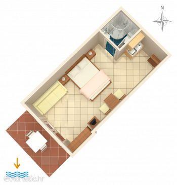 Studio flat AS-5586-b - Apartments Dramalj (Crikvenica) - 5586