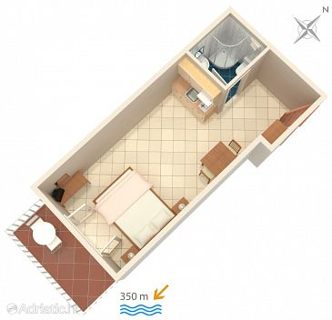 Studio flat AS-5641-a - Apartments Bol (Brač) - 5641