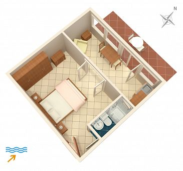 Apartament A-5691-b - Apartamenty Jelsa (Hvar) - 5691