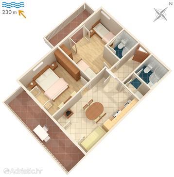 Apartment A-570-h - Apartments Žrnovska Banja (Korčula) - 570