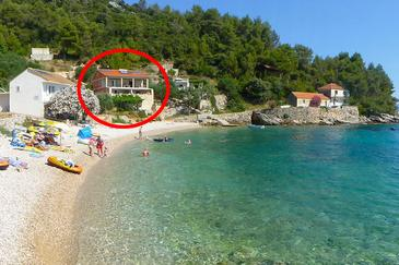 Property Uvala Skozanje (Hvar) - Accommodation 5713 - Apartments near sea with pebble beach.