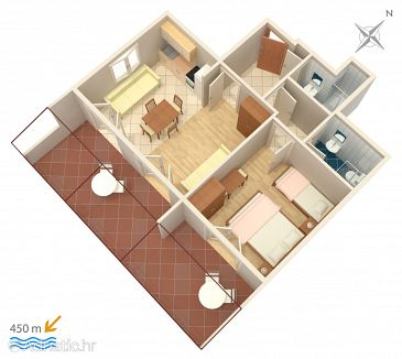 Apartment A-5724-e - Apartments Stari Grad (Hvar) - 5724