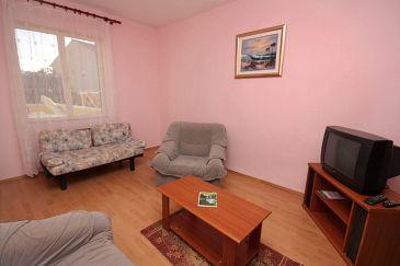 Turanj, Living room u smještaju tipa apartment, dostupna klima i dopusteni kucni ljubimci.