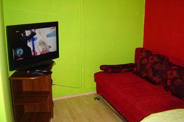 Privlaka, Living room u smještaju tipa apartment, dopusteni kucni ljubimci.