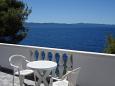 Uvala Torac, Terrace 1 u smještaju tipa apartment, s pogledom na more.