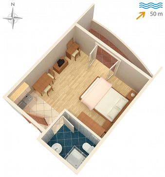 Studio flat AS-5766-b - Apartments and Rooms Ražanac (Zadar) - 5766