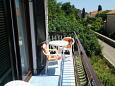 Zadar - Diklo, Balcony 1 u smještaju tipa apartment, s pogledom na more i WIFI.