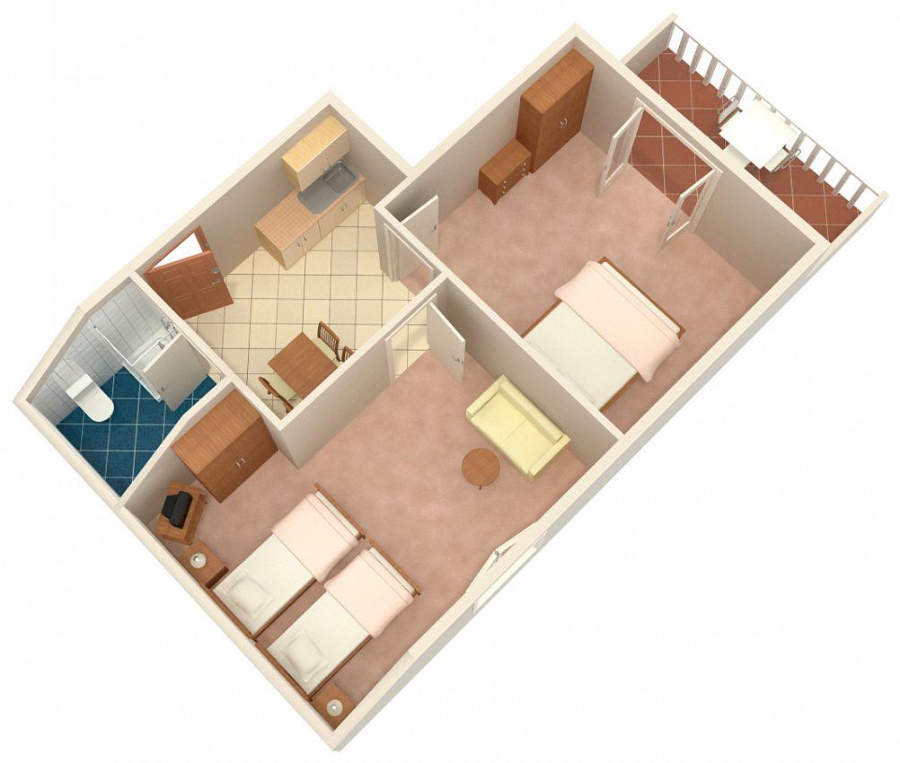 Apartmány s parkoviskom v meste Vrsi - Mulo - 5796