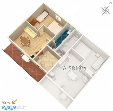 Apartment A-5813-b - Apartments Privlaka (Zadar) - 5813