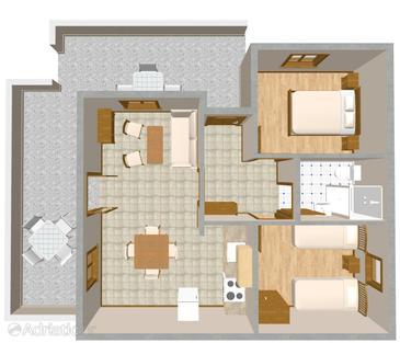 Apartment A-582-b - Apartments Mudri Dolac (Hvar) - 582