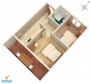 Apartament A-589-a - Apartamenty Uvala Torac (Hvar) - 589