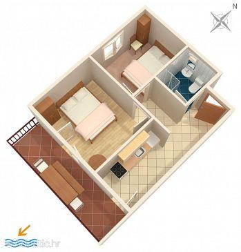 Apartment A-589-b - Apartments Uvala Torac (Hvar) - 589