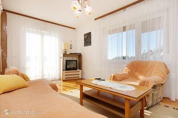 Mimice, Living room u smještaju tipa apartment, dostupna klima i WIFI.