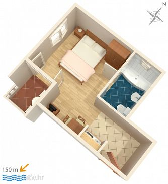 Studio flat AS-5973-c - Apartments Duće (Omiš) - 5973