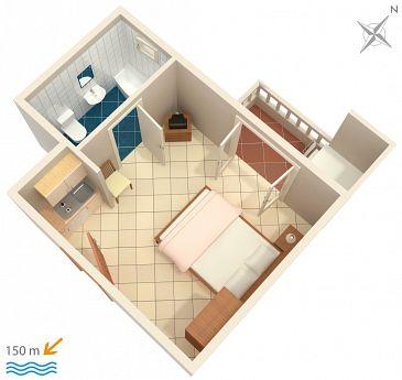 Studio flat AS-5973-d - Apartments Duće (Omiš) - 5973