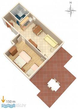 Apartment A-6005-b - Apartments Lokva Rogoznica (Omiš) - 6005