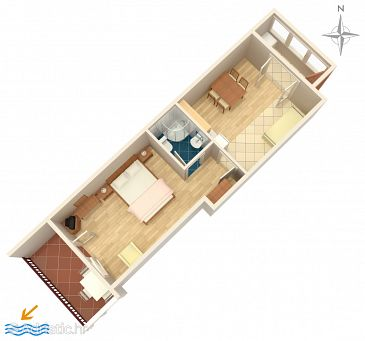 Apartment A-6023-c - Apartments Trogir (Trogir) - 6023