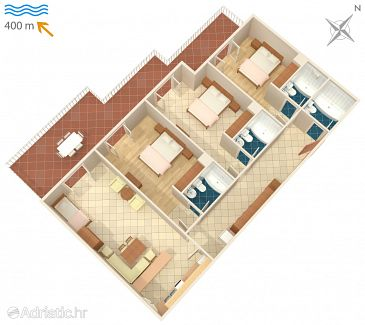 Apartment A-6043-b - Apartments Brela (Makarska) - 6043