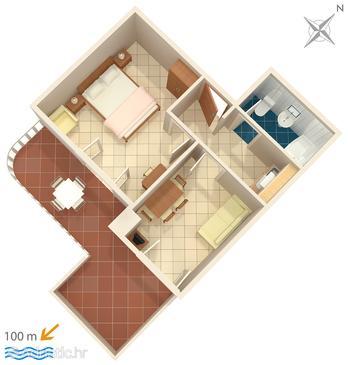 Apartment A-6056-c - Apartments and Rooms Brela (Makarska) - 6056