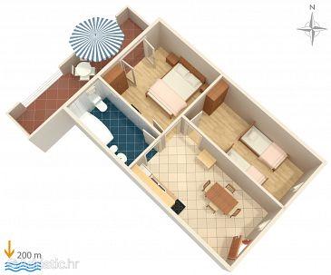 Apartment A-6057-a - Apartments Baška Voda (Makarska) - 6057