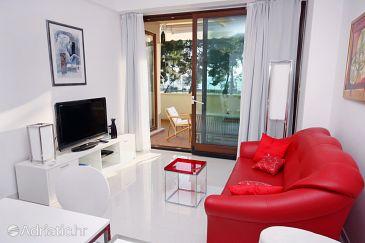 Podstrana, Living room u smještaju tipa apartment, dostupna klima.