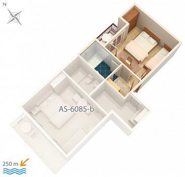 Studio flat AS-6085-a - Apartments and Rooms Podgora (Makarska) - 6085