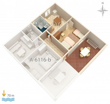 Apartment A-6116-a - Apartments Marina (Trogir) - 6116