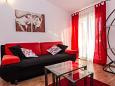 Zadar, Living room u smještaju tipa apartment, dostupna klima i WIFI.