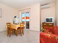 Posedarje, Dining room u smještaju tipa apartment, dostupna klima i WIFI.