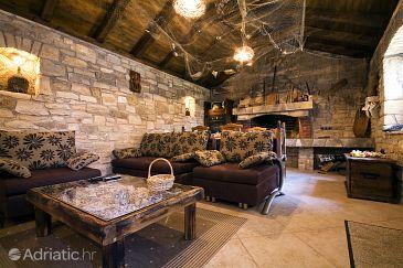 Posedarje, Living room u smještaju tipa house, dostupna klima i WIFI.