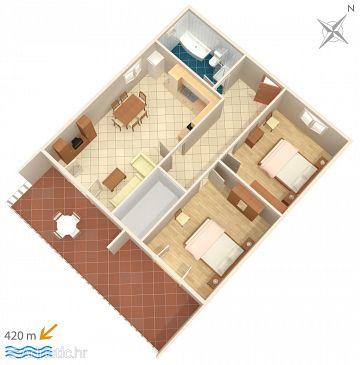 Apartment A-6237-b - Apartments Tribunj (Vodice) - 6237
