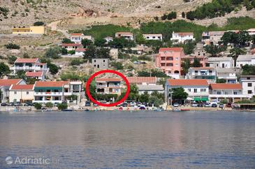 Property Metajna (Pag) - Accommodation 6352 - Apartments near sea with pebble beach.